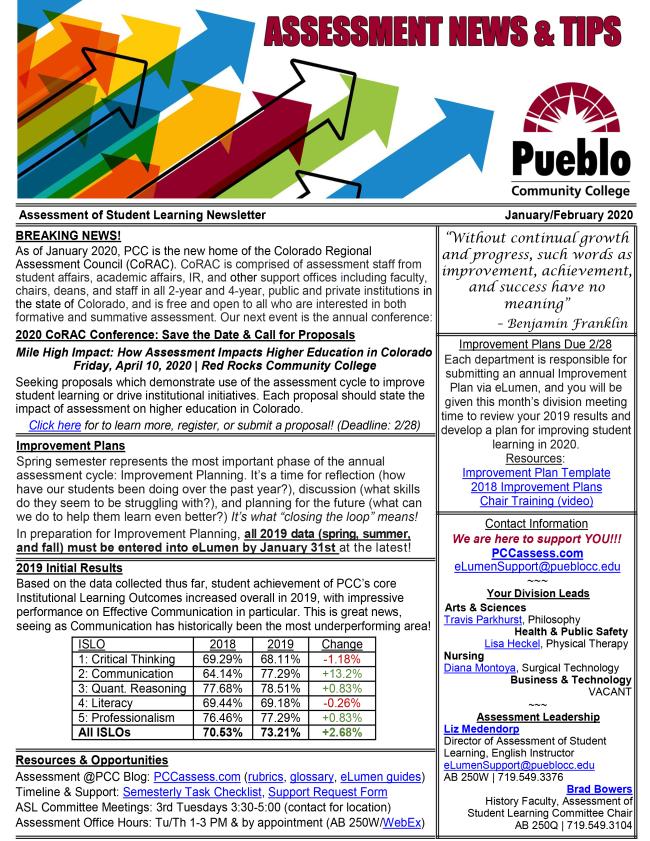 ASL Newsletter - January/February 2020